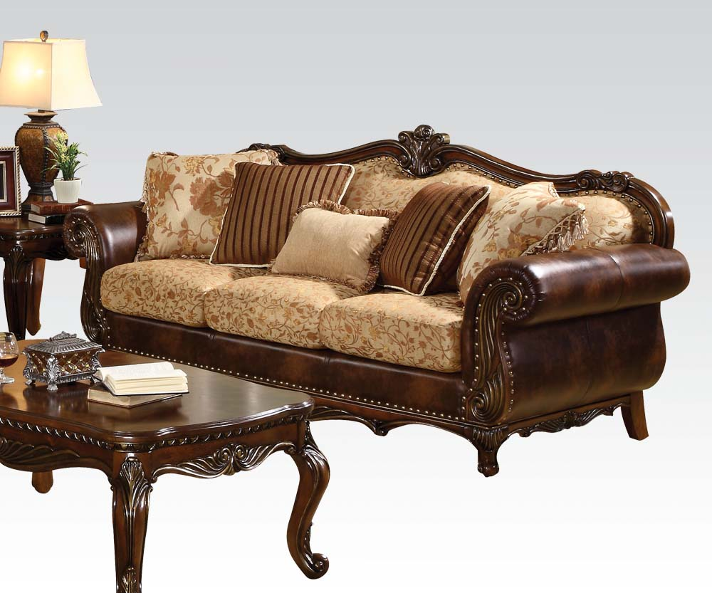 Prime Remington Living Room Set In Leather And Fabric Beutiful Home Inspiration Aditmahrainfo
