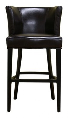 Y-770 Cleto Modern Dark Brown Leather Bar Stool
