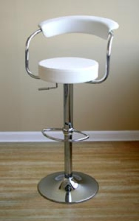 Omicron Contemporary White Swivel Bar Stool BR0022WH
