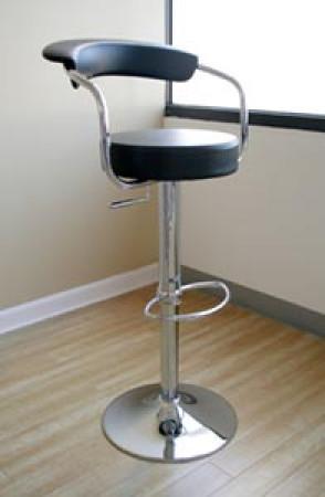 Omicron Contemporary Black Swivel Bar Stool BR0022BK