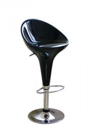 Kappa Black Modern Bar Stools - Set of 2