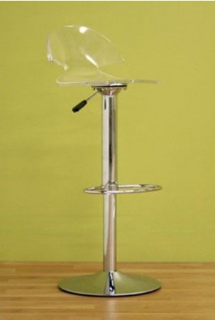 Clear Acrylic Adjustable Height Bar Stool