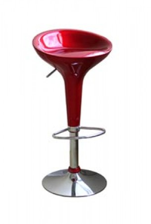 Ro Red Swivel Modern Bar Stools - Set of 2