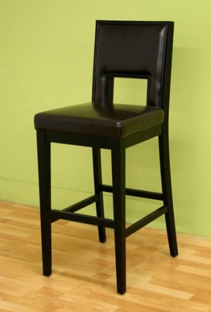 Rizzo Cut Out Back Design Leather Bar Stool