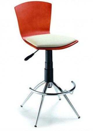Modern Cherry Wood Barstool 52