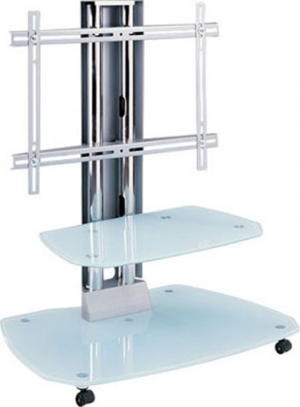 V Hold 5 Tempered Glass Flat Panel TV Stand