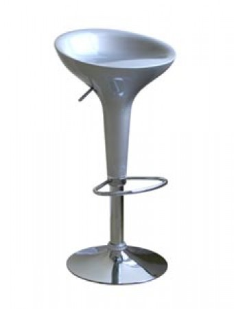 Ro Silver Modern Bar Stool BR0013  - Set of 2