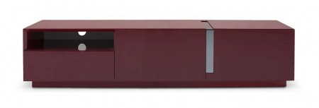TV027 Contemporary Long TV Stand in Red Gloss Finish