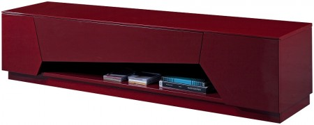 TV125 Modern Long TV Stand in Red Finish