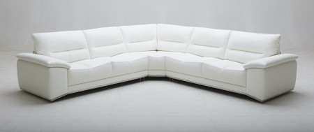 Adriana Sectional Sofa in White Leather by J&M Furniture
