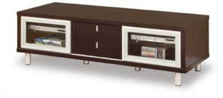720 Contemporary Walnut Television Stand