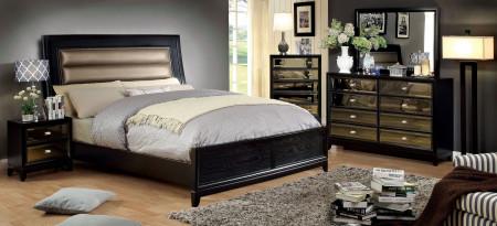 Golva Bedroom Set in Black and Taupe