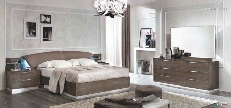 Platinum Silver Birch Italian Bedroom Set