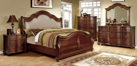 Bellavista Traditional Sleigh Bedroom Set in Cherry Finish