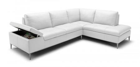 Divani Casa Gardenia Sectional Sofa in White Leather