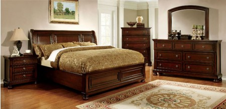 Northville Bedroom Set in Dark Cherry Finish