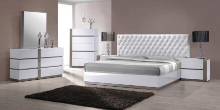 Modrest Vero Contemporary White Bedroom Set
