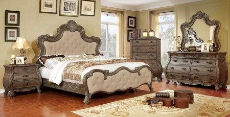 Cursa Traditional Bedroom Set in Rustic Natural Tone