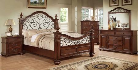 Landaluce Bedroom Set in Antique Dark Oak Finish