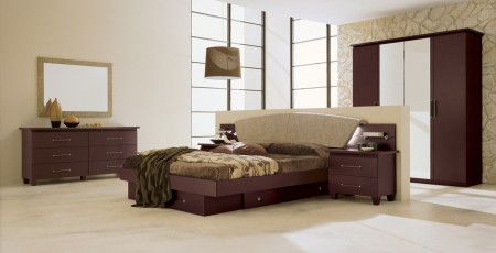Miss Italia Comp 3 Bedroom Set in Espresso Brown Finish