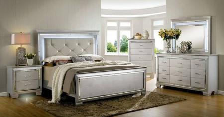Bellanova Modern Bedroom Set in Silver