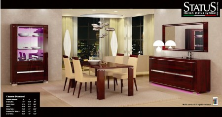 Charme Diamond Mahogany Italian Formal Dining Room Set