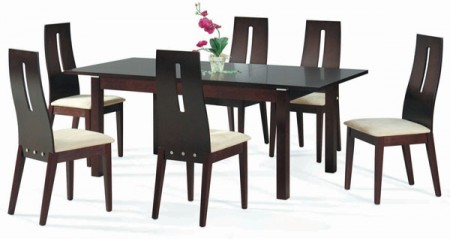 Walnut Solid Wood Contemporary Dining Room Set Cafe 30