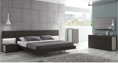 Maia Modern Bedroom Set in Dark Brown