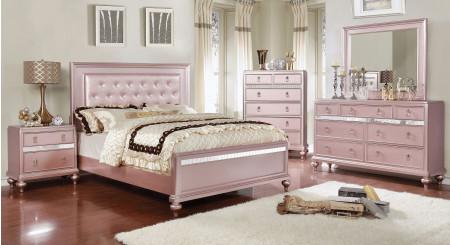 Avior Bedroom Set in Rose Pink