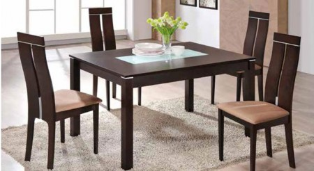 Expandable Wood Table D6948DT Modern Dining Room Set