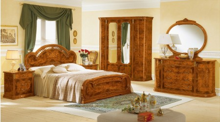 Milady Italian Bedroom Set in Walnut Finish by Camelgroup