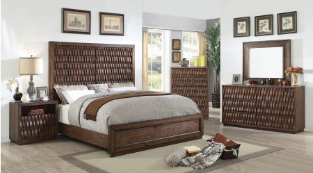 Eutropia Bedroom Set in Warm Chestnut