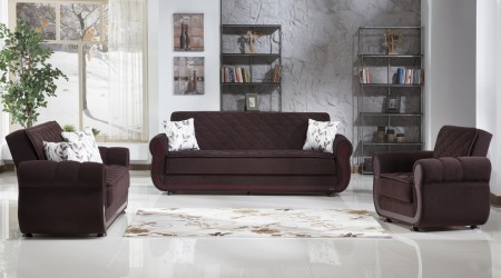 Argos Living Room Set in Colin Brown Fabric