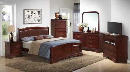 Low Profile Traditional Cherry Bedroom Set G3100C