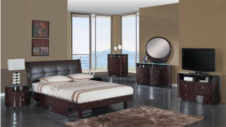 Evelyn Bedroom Set in Wenge Finish by Global Furniture