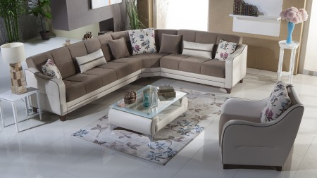 Nepal Estel Vizon Sectional Sofa Bed Istikbal Furniture