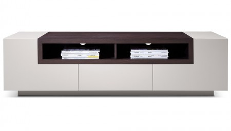 TV002 Large TV Stand in Light Grey Color