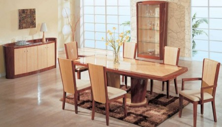 Gabriella Contemporary Two Tone Large Dining Room Set