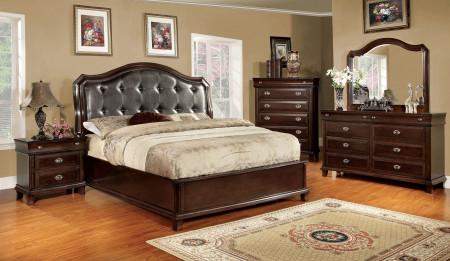 Arden Bedroom Set in Brown Cherry
