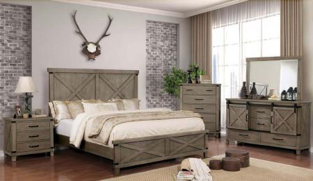 Bianca Bedroom Set in Gray Finish