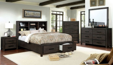 Strasburg Bedroom Set in Wire Brushed Rustic Brown