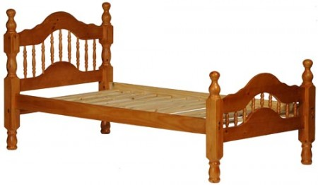 Dover Honey Solid Wood Platform Bed with Storage Option