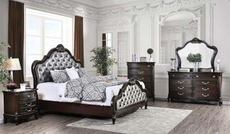 Bethesda Bedroom Set in Espresso and Silver