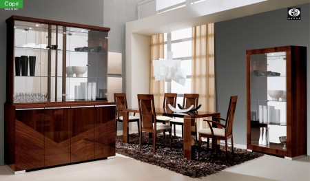 Capri Italian Dining Room Set in Walnut by ALF Group