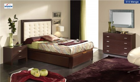 Alicante 515 Bedroom Set in Wenge Finish by Dupen Spain