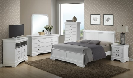 White Finish Bedroom Set G3190E Glory Furniture