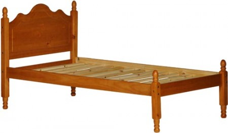 Reston Honey Solid Wood Platform Bed with Storage Option