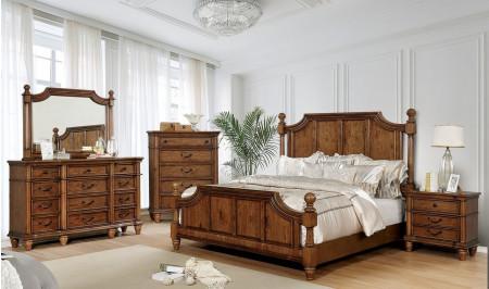 Mantador Traditional Bedroom Set in Light Oak