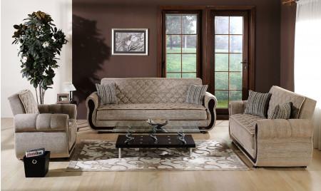 Argos Living Room Set in Zilkade Brown Fabric