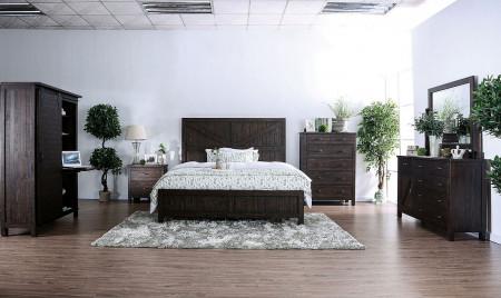 Brenna Bedroom Set in Espresso Finish